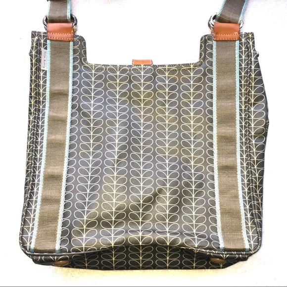 777e6f5644 ORLA KIELY Linear Stem Grey Crossbody Bag Purse